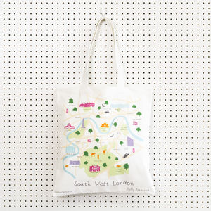 Map Of South West London Tote Bag - men's sale