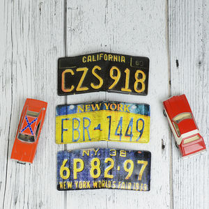 American Licence Plate Wallet