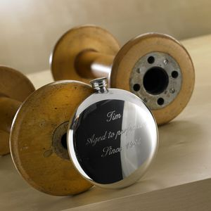 Personalised Engraved Round Hip Flask - hip flasks