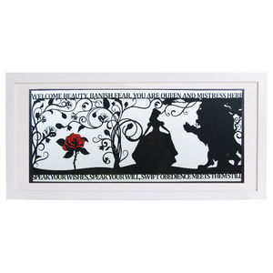 The Beauty Of A Beast Signed Papercut Print - children's room