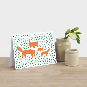 Fox And Cub Mother's Day Card