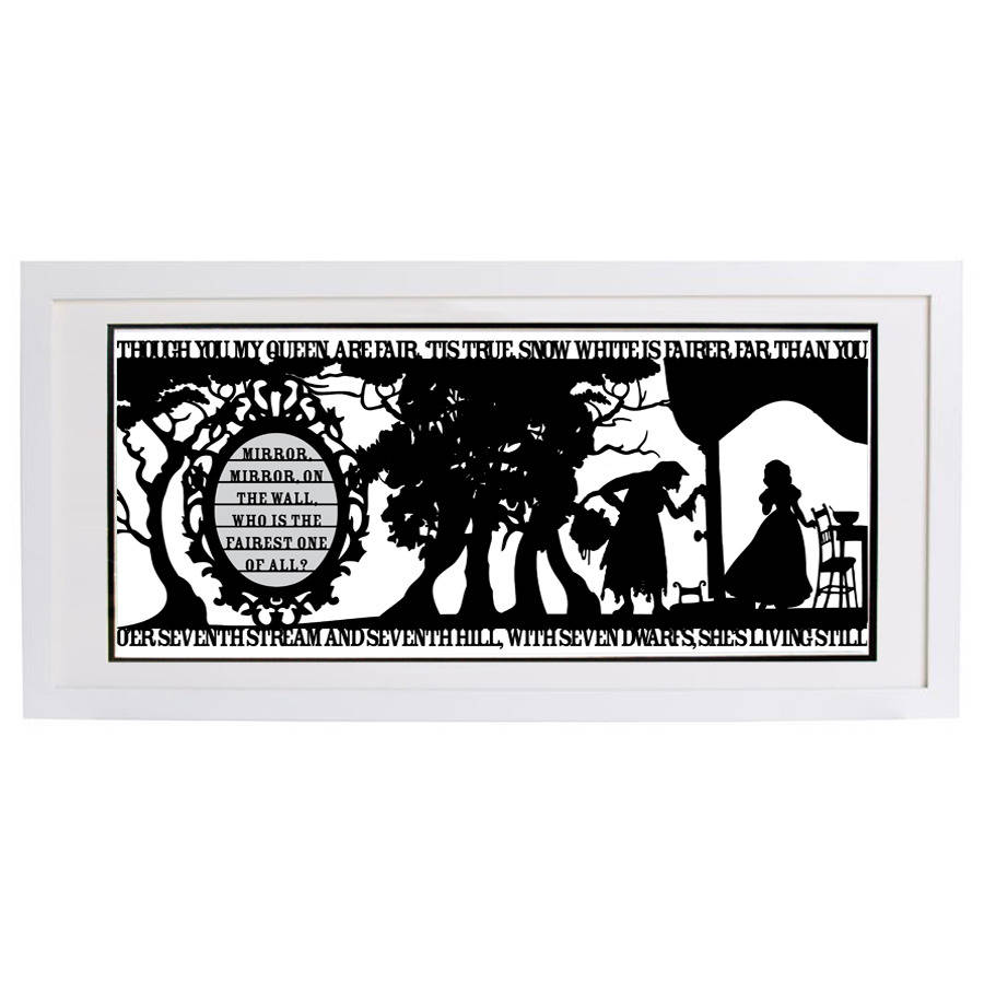 Snow White S Mirror Signed Papercut Print