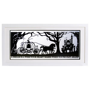Cinderella's Dream Signed Papercut Print - mixed media pictures