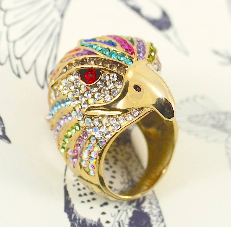 Amy Crystal Eagle Ring