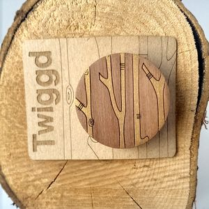 Wooden Forest Brooch