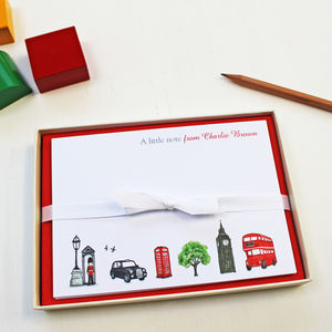 Personalised London Notecards Set - office & study