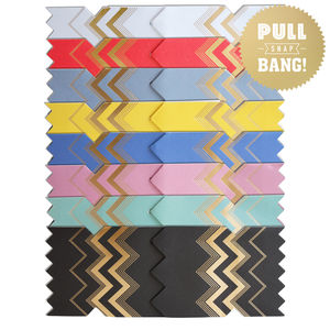 Pack Of Eight Colour Boutique Christmas Cracker Cards - winter sale