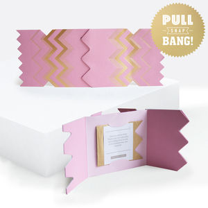 Colour Boutique Pink Christmas Cracker Card - summer sale