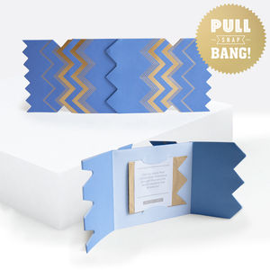 Colour Boutique Blue Christmas Cracker Card - summer sale