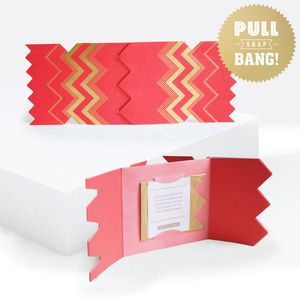 Colour Boutique Red Christmas Cracker Card - summer sale