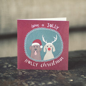 Dogs Festive Christmas Cards - seasonal cards