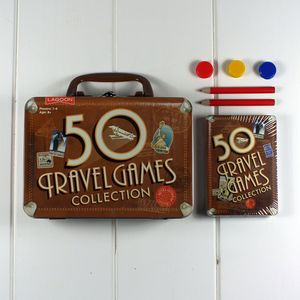 Travel Game Collection In Tin Suitcase - interests & hobbies