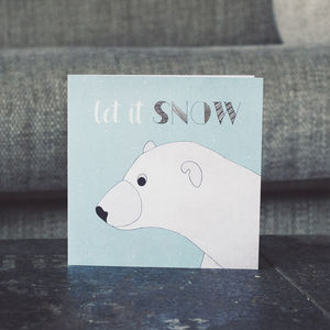 Polar Bear Snow Festive Christmas Cards - cards & wrap