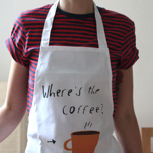 Where's The Coffee Apron