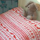 Fair Isle Style Fleece Blanket
