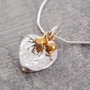 Textured Silver Heart Pendant