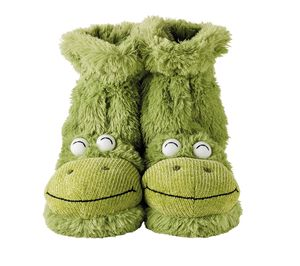 Fluffy Frog Slippers - shoes