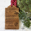 Personalised Telegram From Santa Wooden Gift Tag