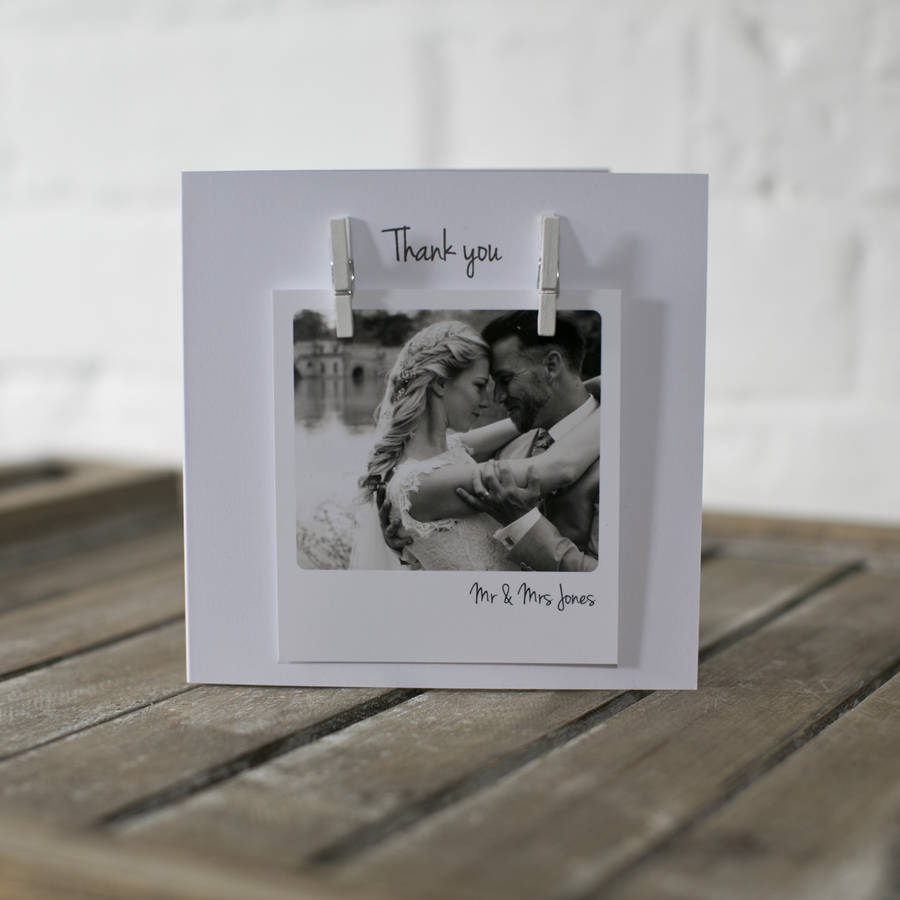 personalised peg photo wedding anniversary card by jg artwork – Personalised Thank You Cards Wedding