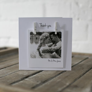 Personalised Peg Photo Wedding Anniversary Card - wedding cards