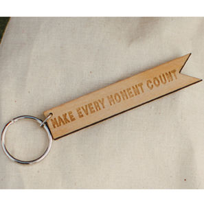 'Make Every Moment Count' Flag Keyring