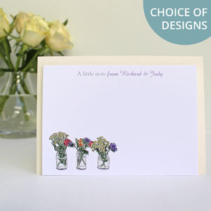 Personalised Flowers And Nature Notecards Set