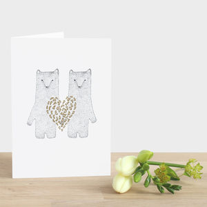 Heart Of Gold Card - wedding, engagement & anniversary cards