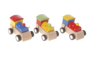 Wooden Wind Up Trains