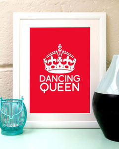 Personalised 'Dancing Queen' Print - personalised