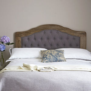 French Carved, Buttoned Headboard - furniture