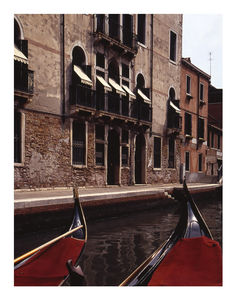 Gondolas, Venice, Italy, Signed Art Print - architecture & buildings