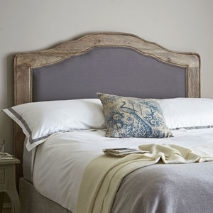French Carved, Unbuttoned Headboard