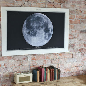 Moon Print Canvas Wall Chart - contemporary art