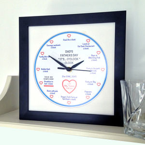 Personalised 'It's… O'clock' Father's Day Clock - decorative accessories