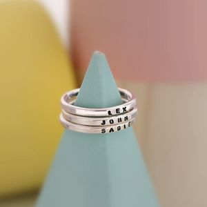 Personalised Stacker Rings - monogram & script