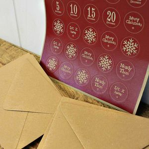 Advent Envelopes And Stickers Set - seasonal cards