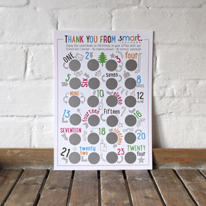 Personalised Corporate Scratch Quiz Advent Print - party, events & decorations