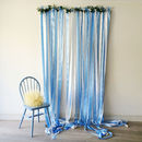 Blue Ribbon Wedding Backdrop