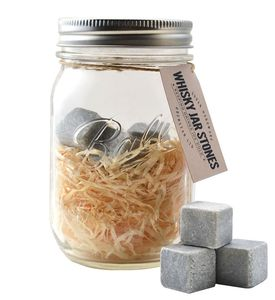 Whisky Stone Mason Jar Gift - sale