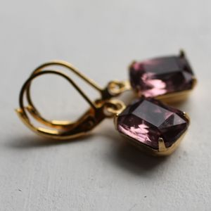 Amethyst Vintage Earrings - earrings