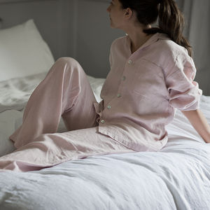 Linen Pyjamas - the morning of the big day