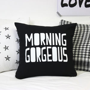 'Morning Gorgeous' Monochrome Cushion - patterned cushions