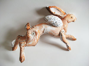 Flying Brown Hare Art Toy