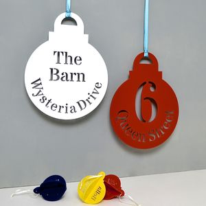 Personalised Giant Bauble Wreath