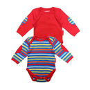 Organic Cotton Stripey Baby Grow Two Pack