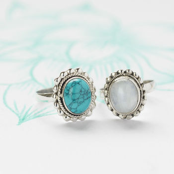 Handmade Gemstone Silver Rings