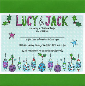 Personalised Christmas Party Invitations - cards & wrap