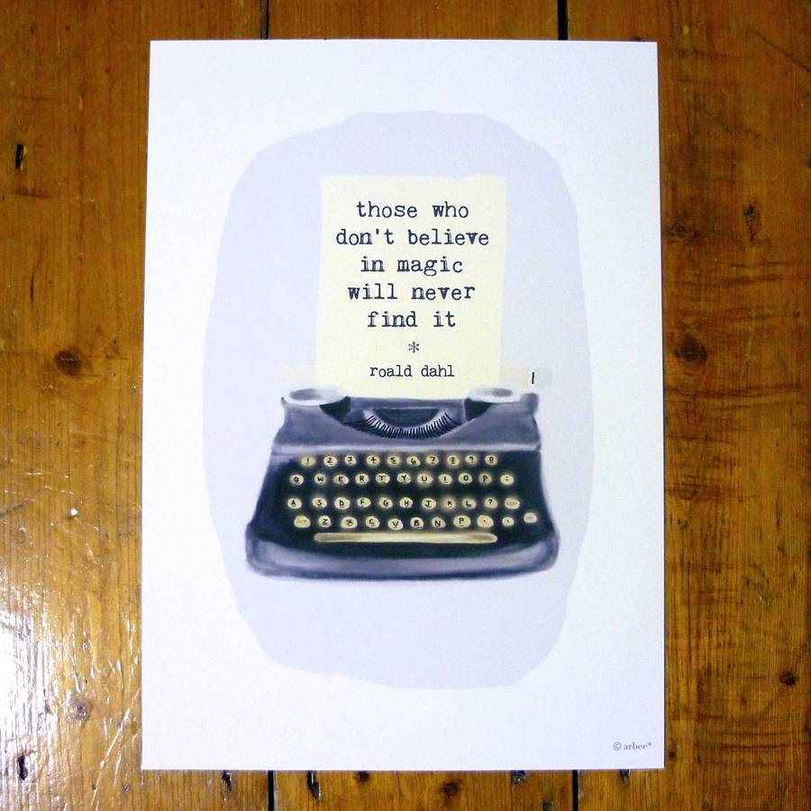 Type Your Own Message Typewriter Print By Arbee