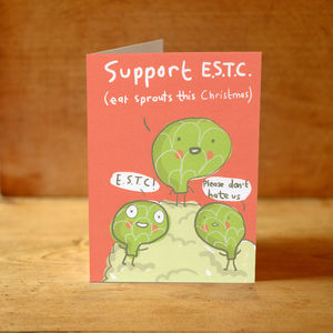 'Eat Sprouts This Christmas' Card - cards & wrap