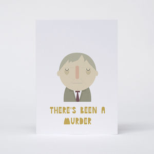 'There's Been A Murder' Card - blank cards